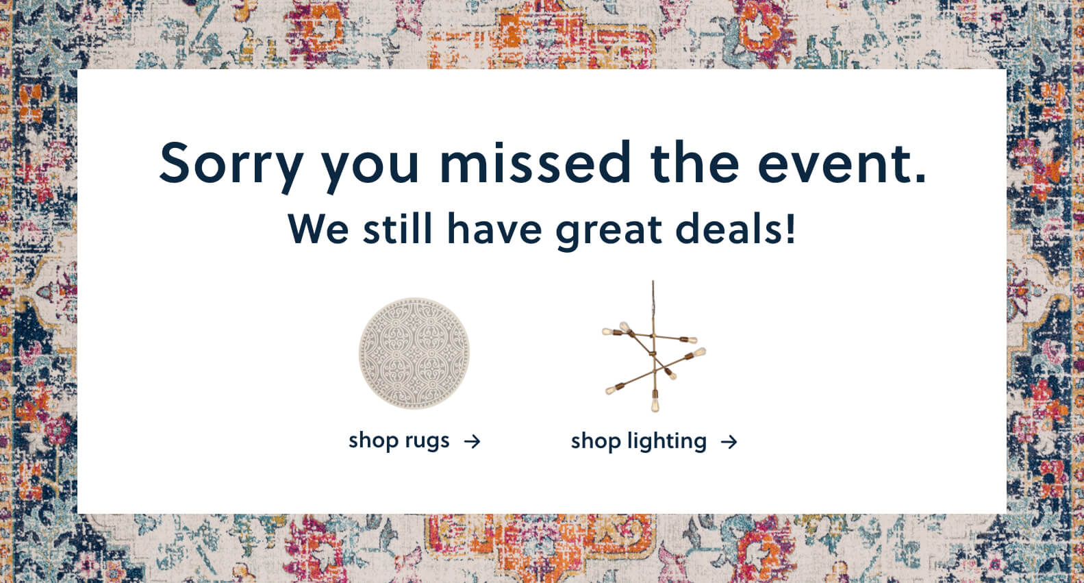 Shop Rugs, Lighting