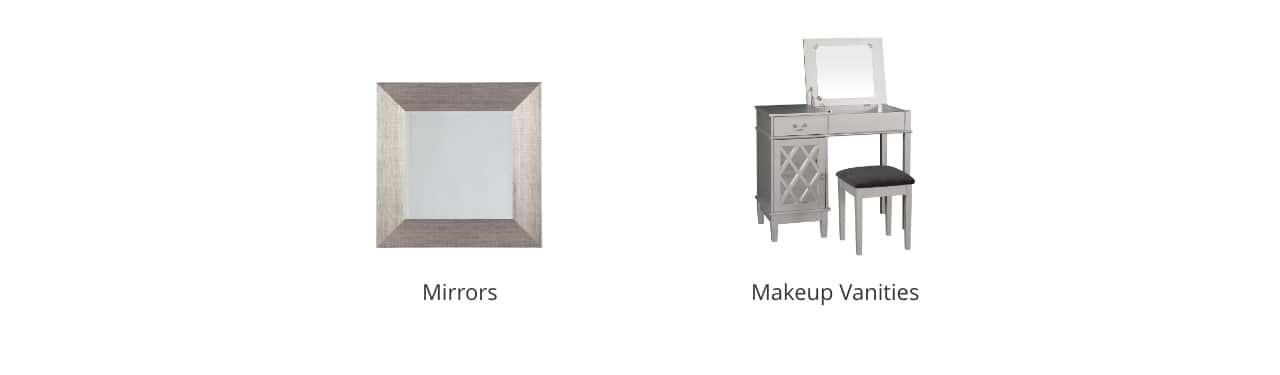 Bathroom Mirrors, Makeup Vanities
