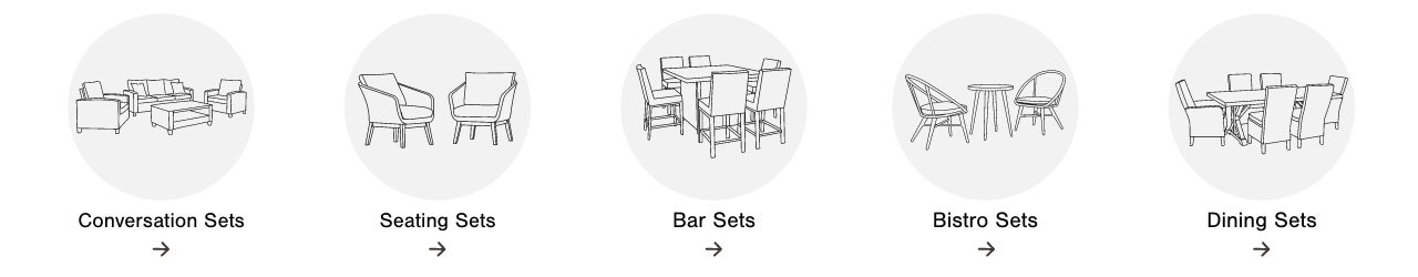 Outdoor Converstaion Sets,Outdoor Seating Sets,Outdoor Bar Sets, Outdoor Bistro Setss, Outdoor Dining Sets
