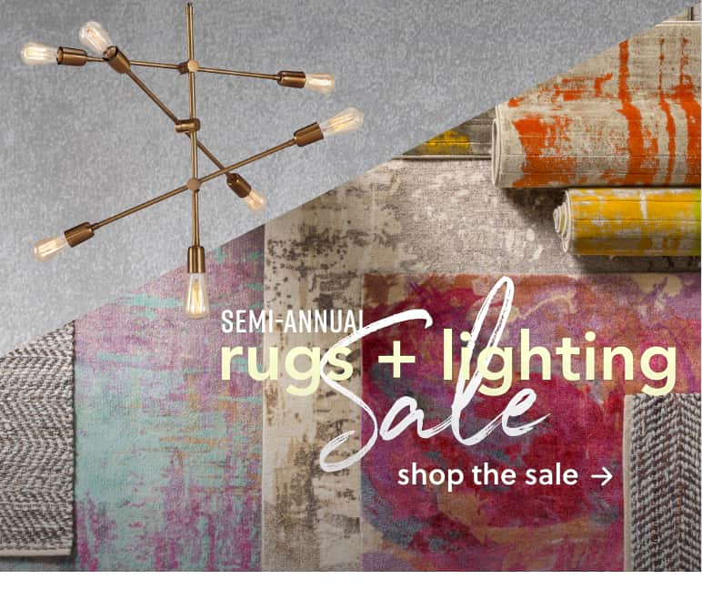 Rugs and Lighting Sale