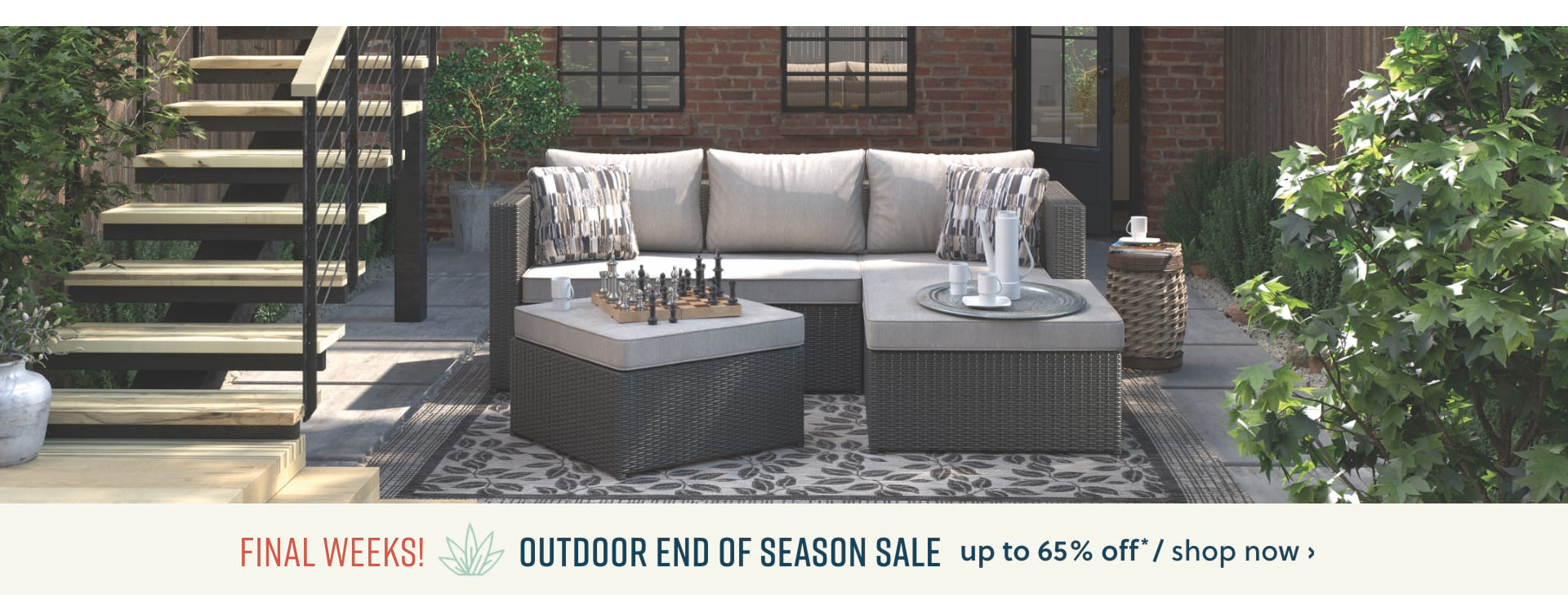 Outdoor end of season sale up to 65% off*