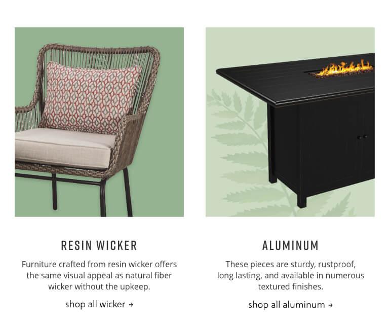 Wicker, Aluminum