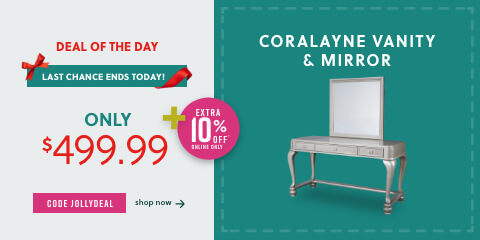 Last Chance Ends Today! Coralayne Vanity & Mirror Only $499.99 +10% Off w/ Code JOLLYDEAL