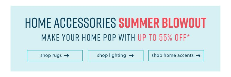 Rugs, Lighting, Home Accents