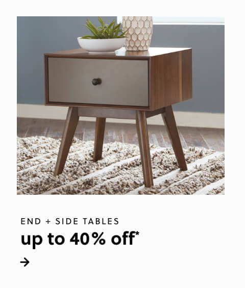Up to 40% Off* End and Side Tables