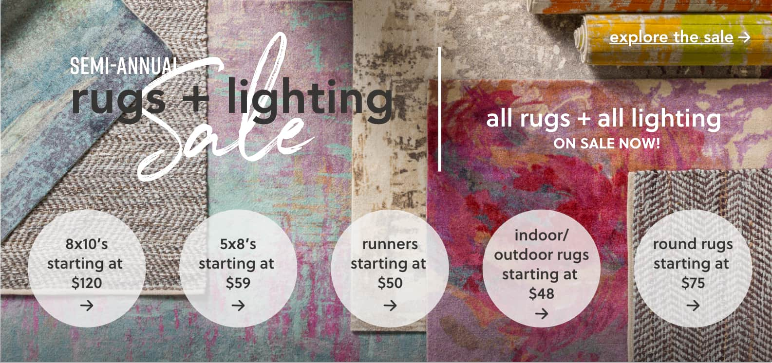 Semi-Annual Rugs & Lighting Sale