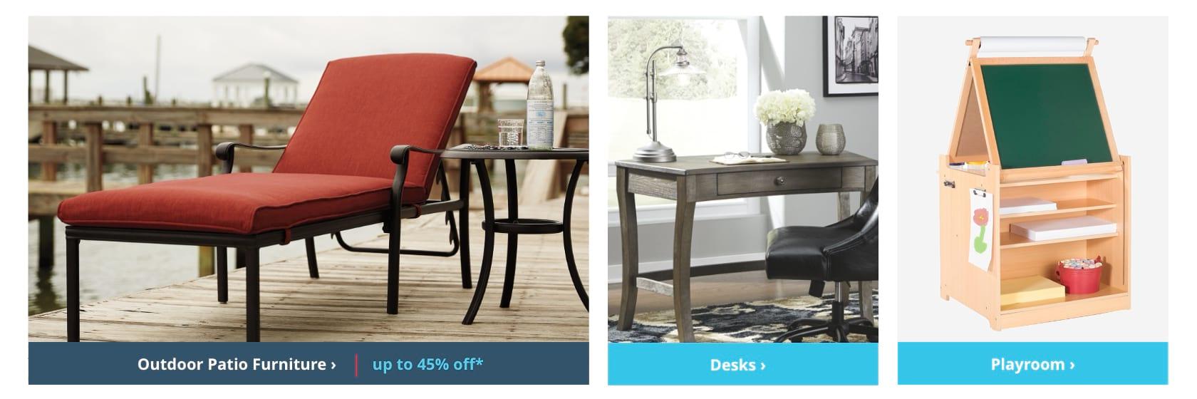 Shop Outdoor Patio Furniture, Desks, Playroom