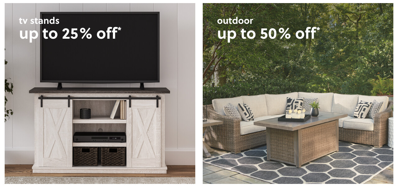 Top Rated TV Stands Up to 25% Off, Outdoor Seating up to 40% Off