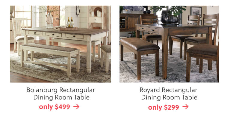 Bolanburg and Royard Dining Tables