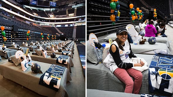 Ashley HomeStores' Hope to Dream Program Teams up with Utah Jazz to Help Underprivileged Children