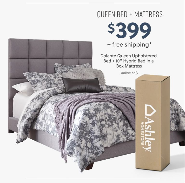 Dolante Queen Bed plus Mattress
