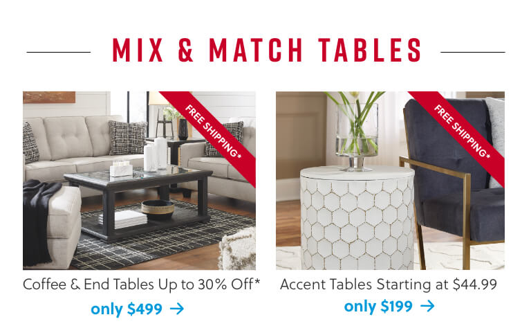 Sofa and Loveseat Sets, Accent Tables