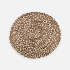 Jute Placemat with Woven Design