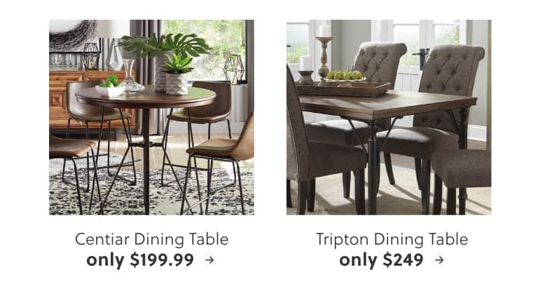 Centiar Dining Table, Tripton Dining Table