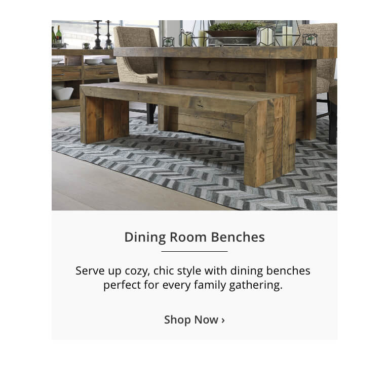 Discover a way to fill your home with endless seating options that show off your style with Ashley Furniture HomeStore's signature Benches collection. Free Shipping guaranteed on all of our Benches.