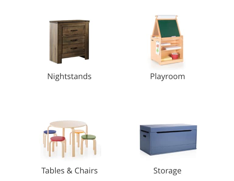 Kids Nightstands, Kids Playroom, Kids Tables and Chairs, Kids Storage