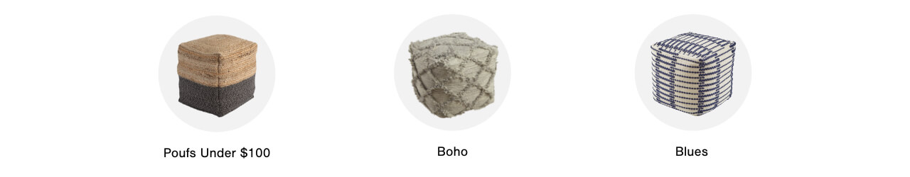 Textiles: Poufs: Poufs under $100, Boho, Blues