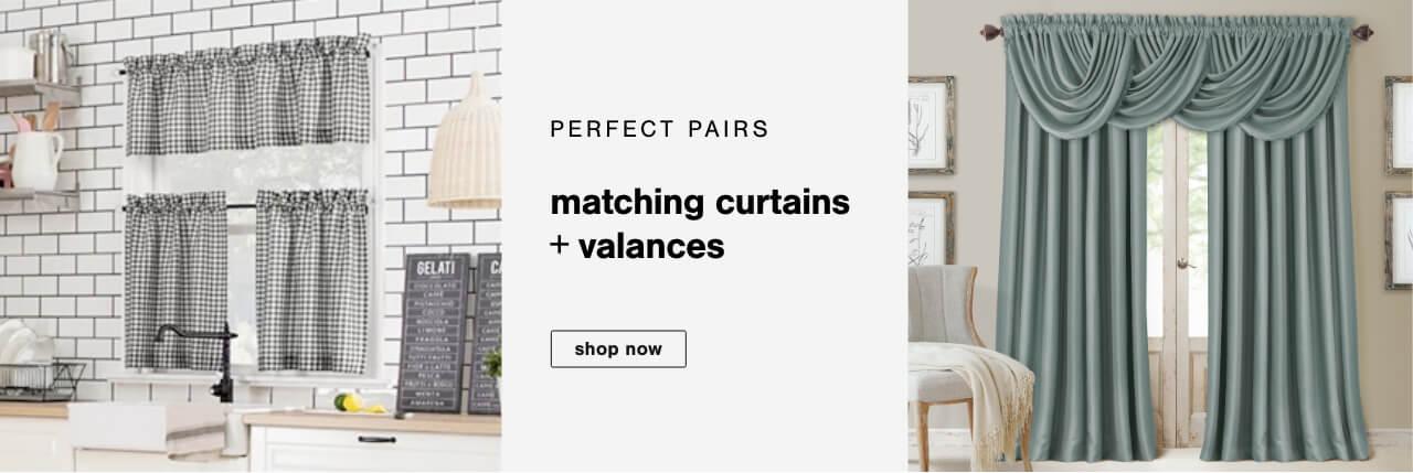 Perfect Pairs: Shop Matching Curtains & Valances