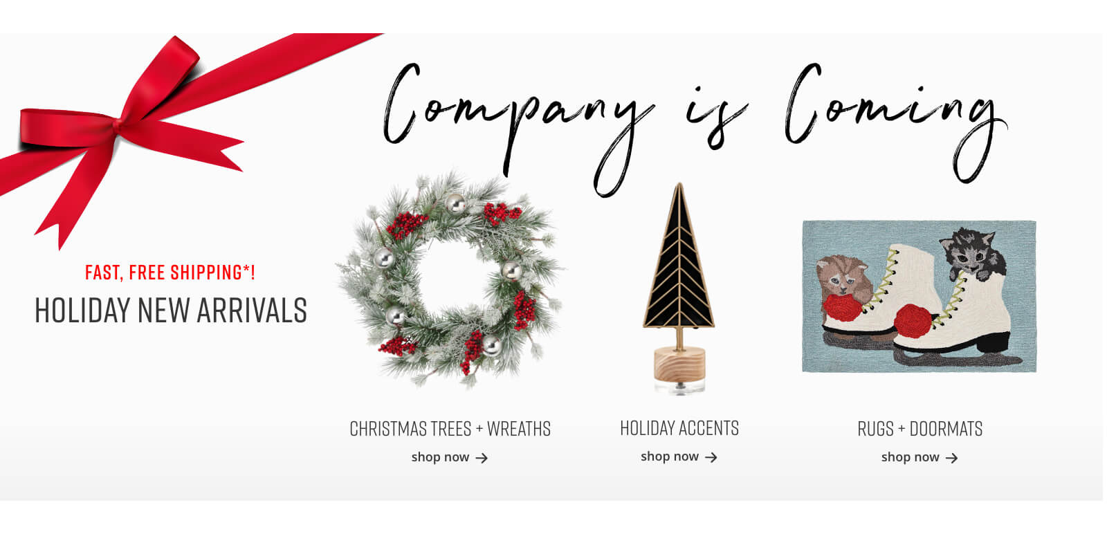 Christmas Trees and Wreaths, Holiday Accents, Rugs and Doormats