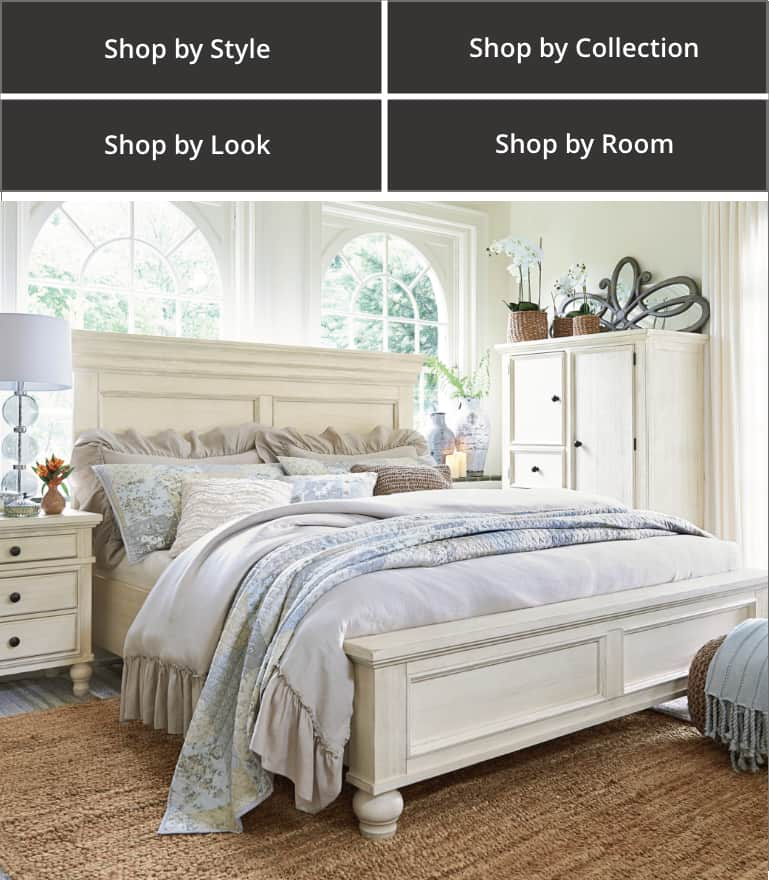 Shop by Style, Shop by Collection, Shop by Look, Shop by Room