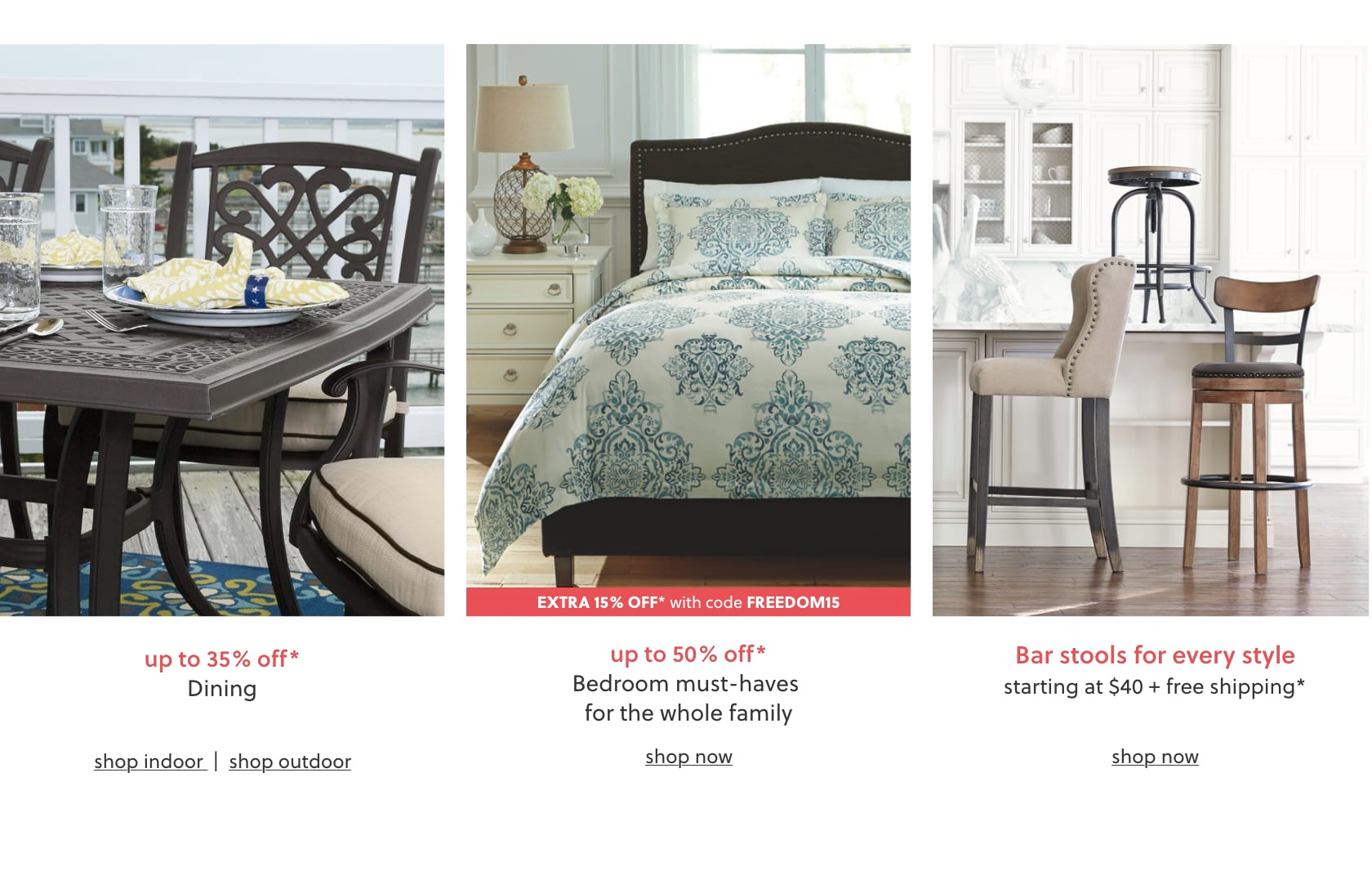 Shop Ashley Furniture HomeStore online for great prices, stylish furnishings and home decor. Free shipping on many items! Memorial Day Furniture Deals 2018