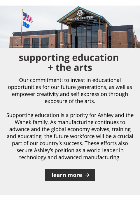 Supporting Education and the Arts