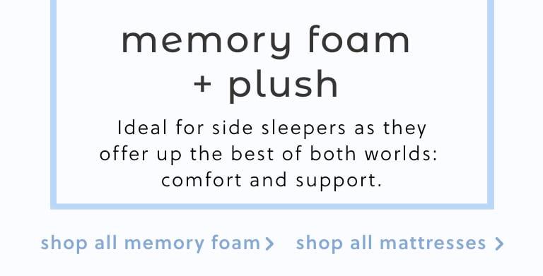 Memory Foam Plush Mattresses