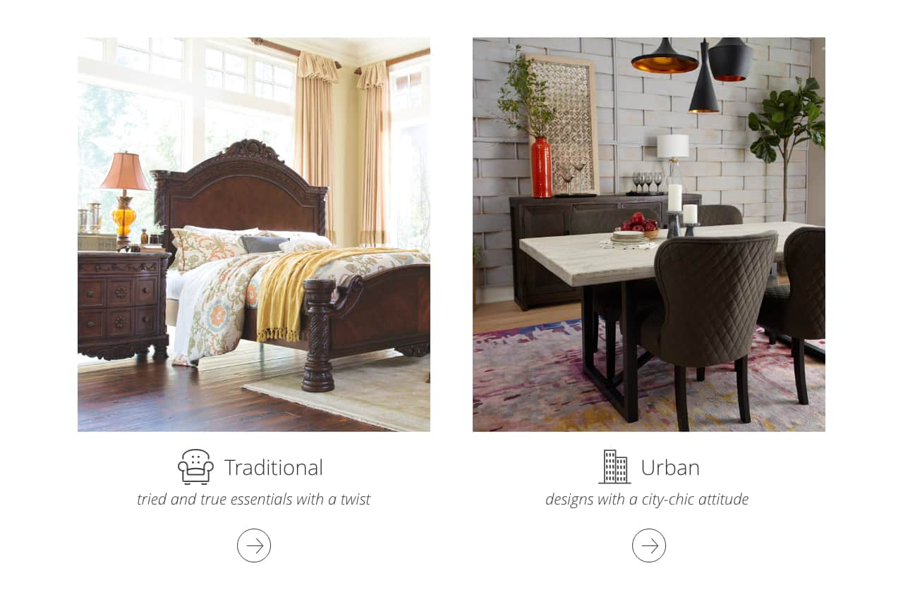 Traditional Bedroom Furniture, Urban Furniture city style