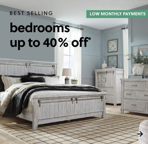 Best Selling Bedrooms up to 40% off*