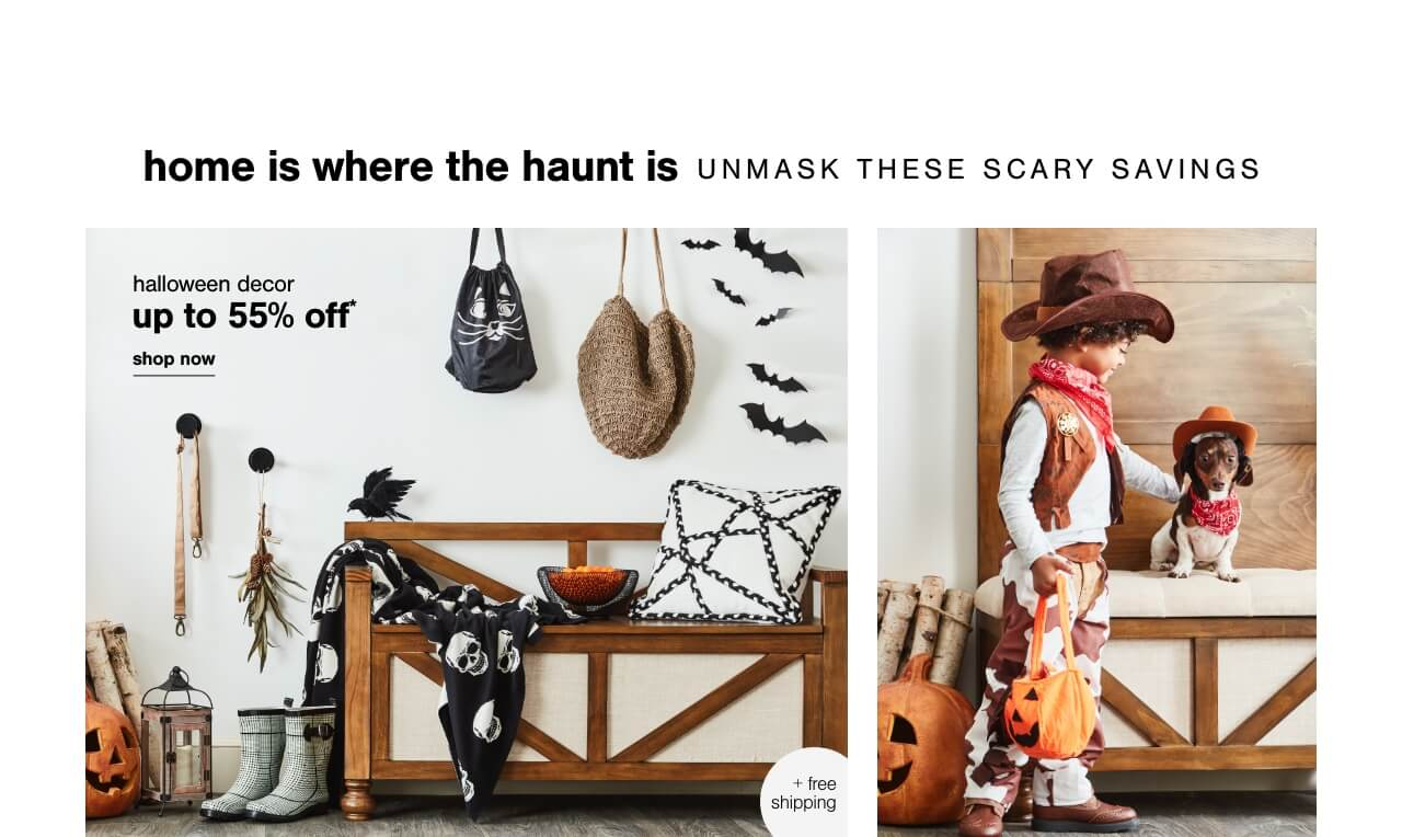 Halloween Decor up to 55% off + FS