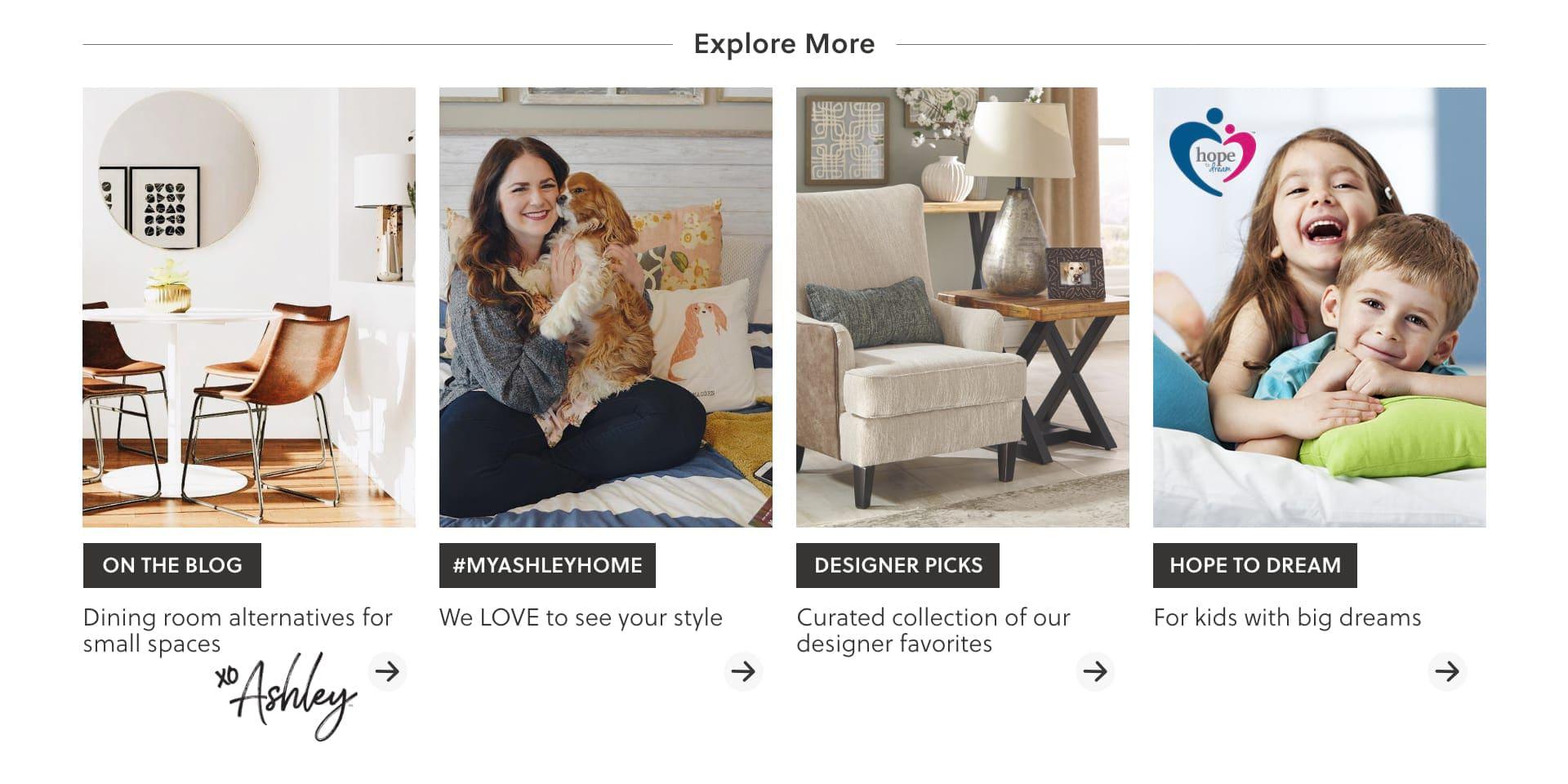 Ashley Furniture HomeStore Blog, Instagram My Ashley Home, Designer Picks, Hope to Dream