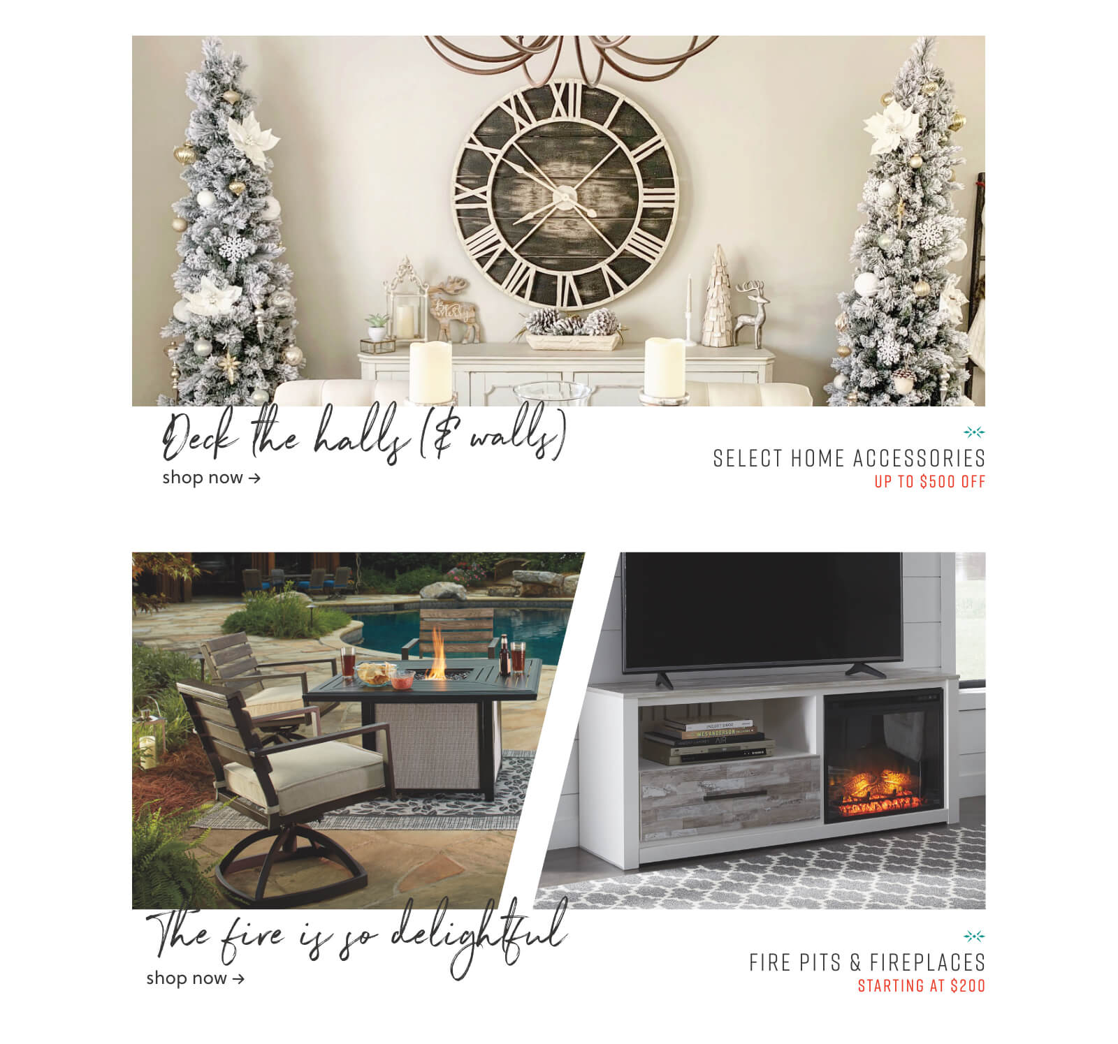 Home Accessories, Fire Pits and Fireplaces
