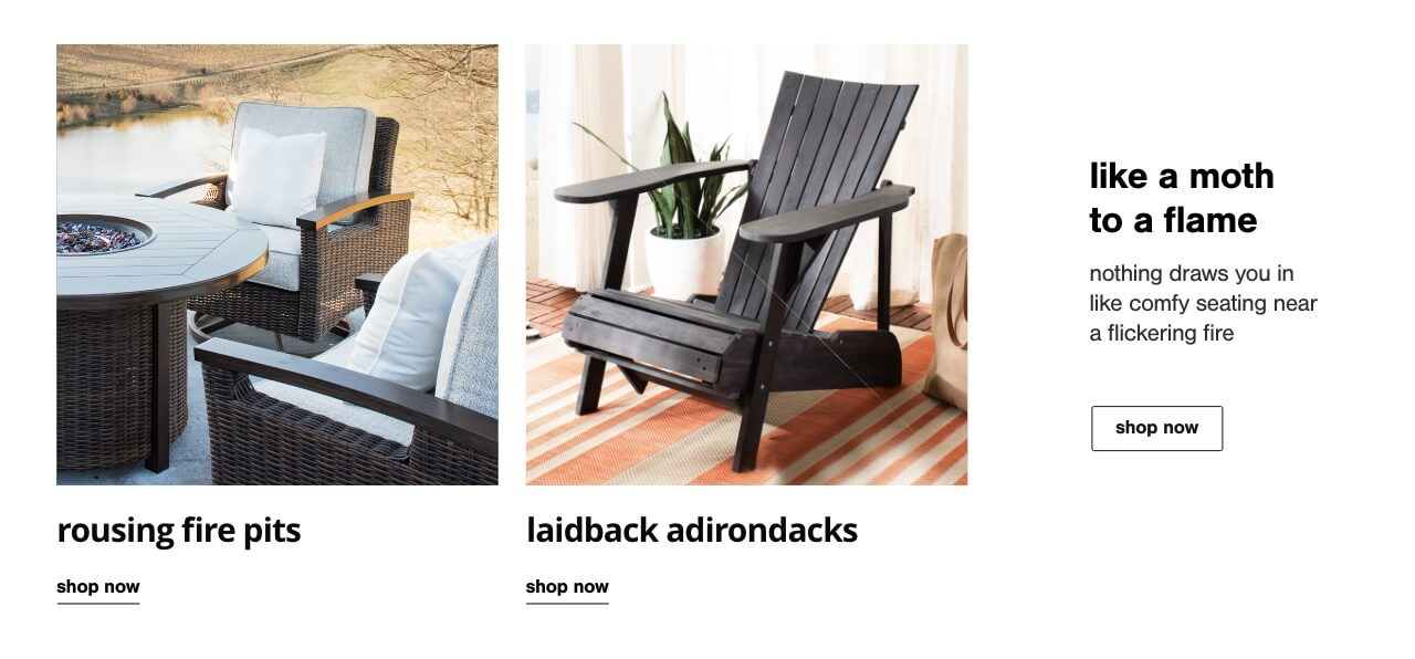 Fire Pits & Tables, Adirondack Chairs