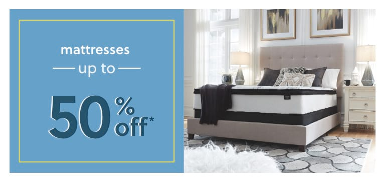 Mattresses up to 50% off*e