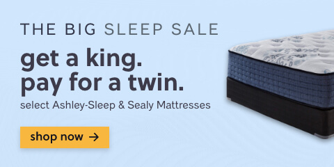 Save on Mattresses! Get a King Size Ashley Sleep or Sealy Mattress for the Price of a Twin!