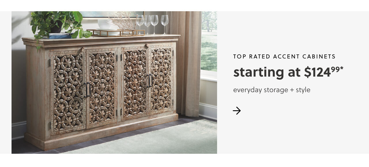 Top Rated Accent Cabinets S/A $124.99