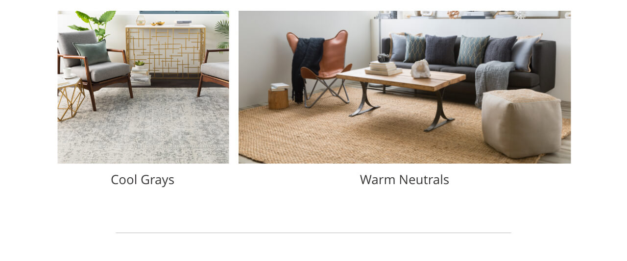 Cool Gray Rugs, Warm Neutral Rugs