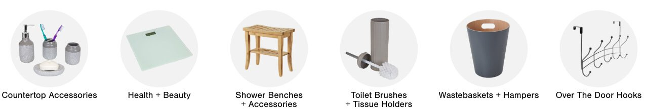 Bathroom Accessories,Health & Beauty, Shower Benches & Accessories, Toilet Brushes & Tissue Holders,Wastebaskets & Hampers,Over the Door Hooks