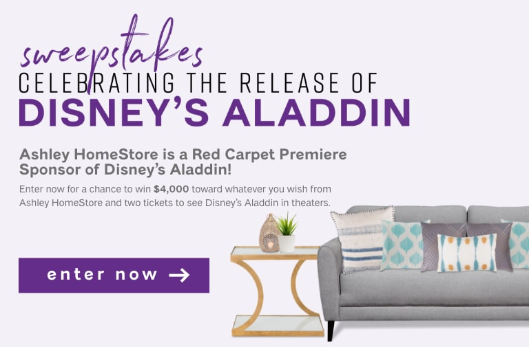 Aladdin Sweepstakes Your Closest To 07712 Change Ashley Home