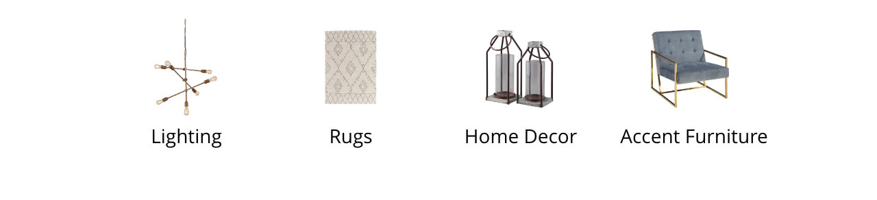 Lighting, Rugs, Home Decor, Accent Furniture