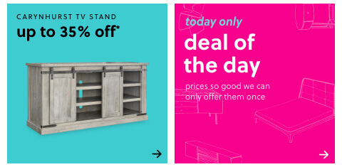 Carynhurst TV Stand up to 35% off , Daily Deals Furniture