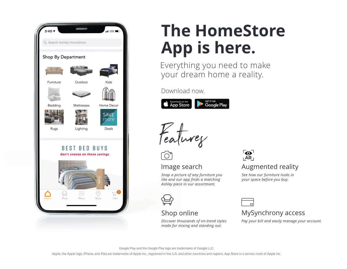 Ashley HomeStore Mobile App | Ashley Furniture HomeStore