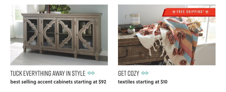 Accent Cabinets, Textiles Blankets