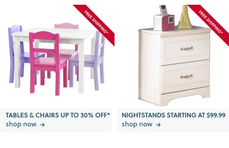 Kids Tables and Chairs, Kids Nightstands