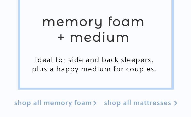 Memory Foam Medium Mattresses