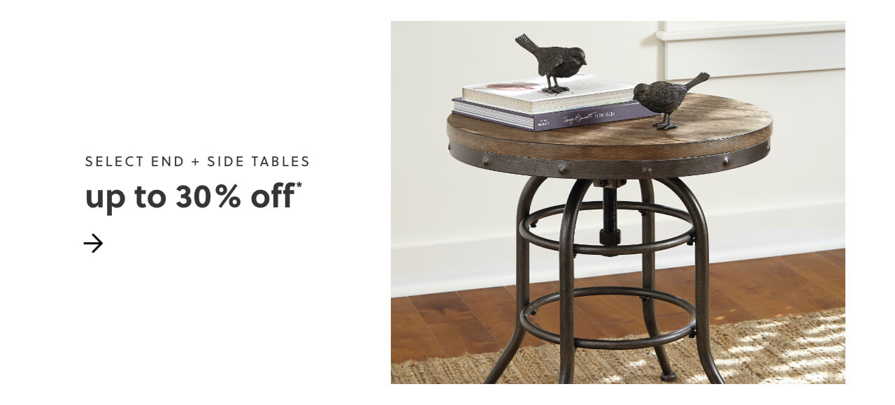 Select End and Side Tables Up to 30% Off