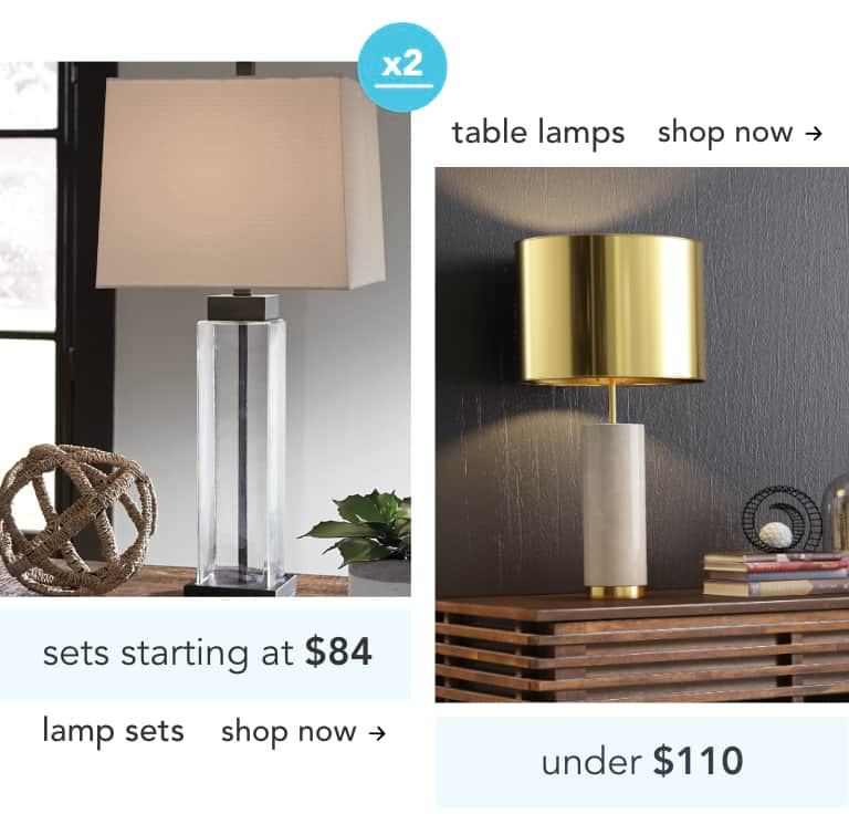 Lamp Sets and Table Lamps
